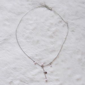 4/$15 Pink Imitation Pearl Star Necklace